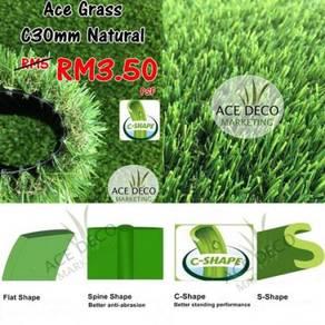 Artificial Grass / Rumput Tiruan Serat C-Shape