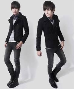 (363) Black Winter Blazer Suit Men Coat Jacket