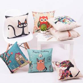 Korea Cushion cover pillow case sarung kusyen ofis