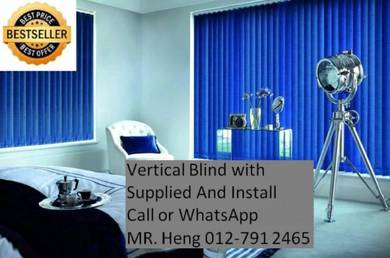 New Office Vertical Blind- with install w54y