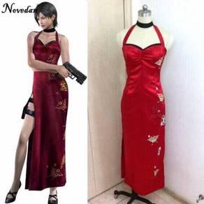 Resident Evil Ada Wong Cheongsam cosplay dress