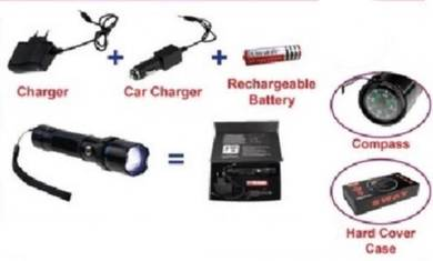 Torch Light With Charger and compas