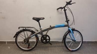 Oscar folding Bicycle 20er 6spd blue vogue bike