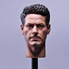 Iron Man Tony Stark head sculpt 1/6 toy Headsculpt
