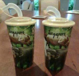 Singapore zoo drinking cup