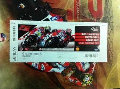Collector moto gp tiket sepang 2015