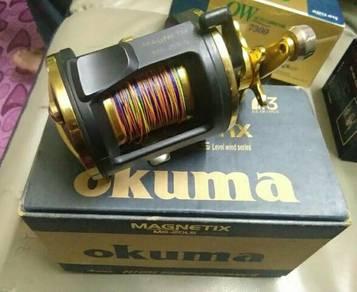 Okuma magnetix fishing reel joran pancing kekili