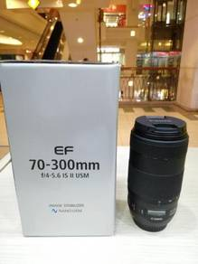 Canon ef 70-300mm f4-5.6 is ii usm lens*99.99% new