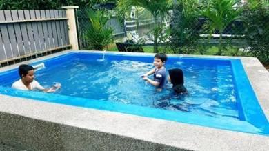 Banglo 5 bilik homestay swimming Pool Kolam Renang