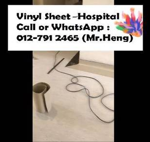Plain Colour Vinyl Sheet Flooring for Hospital 5y