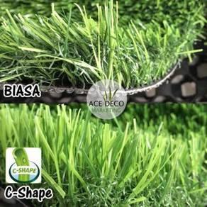 Artificial Grass Sale Rumput Tiruan Serat C-Shape