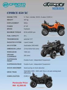 CFmoto All Terrain Vehicle ATV CForce 850 XC