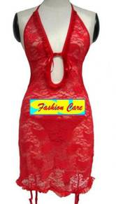 L621 Halter Chemise Babydoll Sleepwear Lingerie