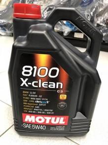 Motul 8100 X-CLEAN 5W40 Fully Synthetic Engine Oil