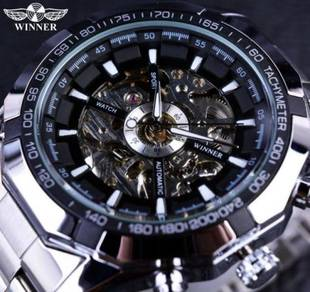 Skeleton Automatic Mechanical StainlessSteel Watch