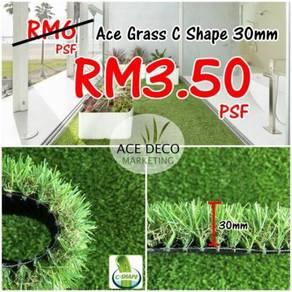 Artificial Grass / Rumput Tiruan Serat C-Shape 01