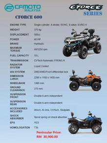 CFMoto All Terrain Vehicle ATV CForce 600