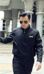 Corporate Jacket color Black, Pattern C Round Neck