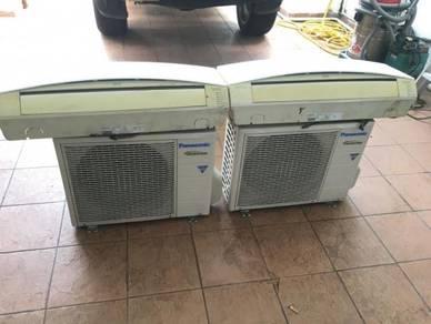 Aircond 1hp Panasonic inverter 2unit