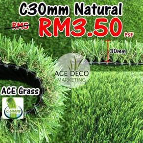 Artificial Grass / Rumput Tiruan C Shape 30mm