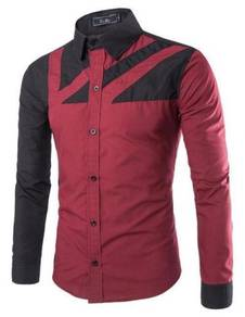 0589 Business Red Formal Casual Long-Sleeved Shirt