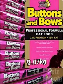 Buttons & Bows feline formula cat food 9.07kg