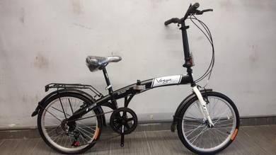 Oscar folding Bicycle black vogue 20er 6sp bike