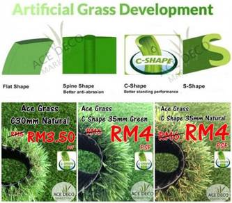 Premium Artificial Grass / Rumput Tiruan C-Shape