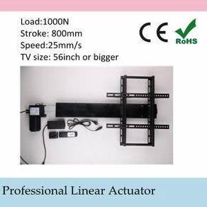 Ceiling 500mm tv lift automatic linear actuator