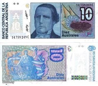 Argentina 10 Australes 1985-89 UNC