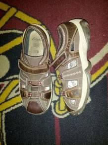 Clarks kid shoe leather kasut budak