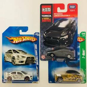 Hotwheels Lot White Lancer Evolution