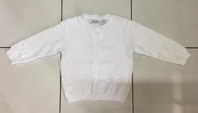 Jenni Baby White Sweater/Cardigan ~ FREE SHIPPING