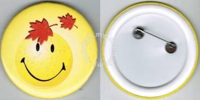 Smiley Happy face #5 Cartoon Button Badge 58mm