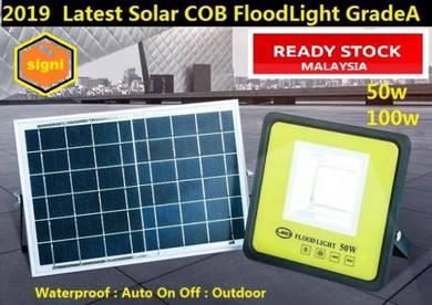 2019 Solar Floodlight 50w 100w LED COB Outdoor Sec