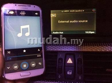 BMW E60 E63 E90 convert audio aux input