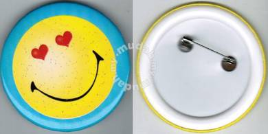 Smiley Happy face #11 Cartoon Button Badge 58mm