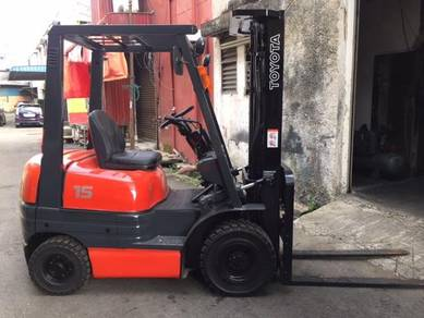 Japan Import 1.5 Ton TOYOTA Forklift 6 Series