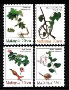 Mint Stamp Medicinal Plants Malaysia 1998