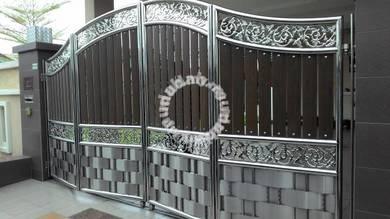 Pintu pagar S/Steel 14x6.5kaki