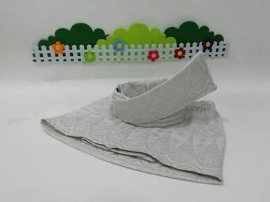 Sampin + Tanjak songket putih untuk Aqiqah baby