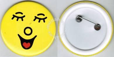 Smiley Happy face #23 Cartoon Button Badge 58mm