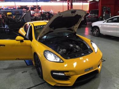 Porsche panamera engine oil service mobil 1
