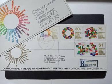 FDC Singapore Commonwealth 1971 No 3517