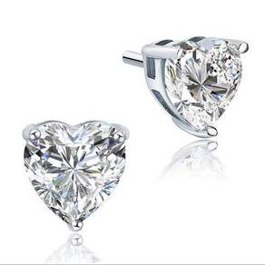 4 Ct. Heart Cut Created Diamond S925 Stud Earring