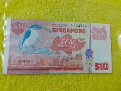 EEQ Ten dollars singapore bird series A2 404364