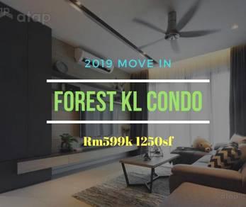 Wangsa Forest Condo *2019 Move in 60% Furnish* Ampang SetiaWangsa LRT