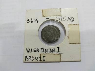 Roman emperor valentinian i coin