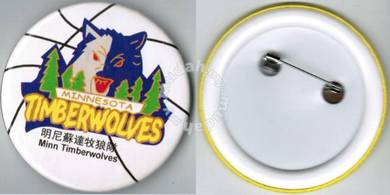 NBA Basketball Minnesota Timberwolves Button Badge