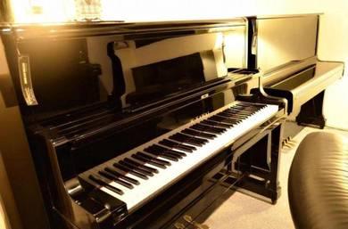 K.KAWAI K-48 Upright Grand Piano - Ebony
